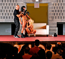 Portuguese Pornstars Fuck on Stage